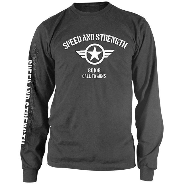 Call to arms long sleeve t shirt babbitts honda partshouse for Shirts for men with long arms