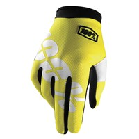 iTrack Youth Gloves Neon Yellow