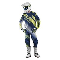 Syncron Air Youth Pants White/Navy/Acid