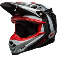 Moto-9 Flex - Gloss Black/White/Red Vice