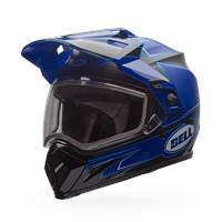 MX-9 Adventure Snow - Matte/Gloss Blue Dual Shield