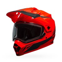 MX-9 Adventure Snow - Torch Orange/Black Dual Shield