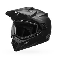 MX-9 Adventure Snow - Matte Black Dual Shield