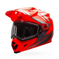 MX-9 Adventure Snow - Orange/Silver Dual Shield