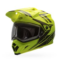 MX-9 Adventure Snow - Yellow/Titanium Dual Shield