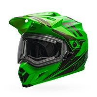 MX-9 Adventure Snow - Green/Titanium Electric Shield