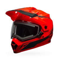 MX-9 Adventure Snow - Torch Orange/Black Electric Shield