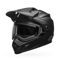 MX-9 Adventure Snow - Matte Black Electric Shield
