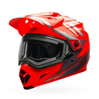 MX-9 Adventure Snow - Orange/Silver Electric Shield