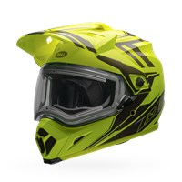MX-9 Adventure Snow - Yellow/Titanium Electric Shield