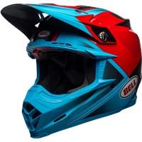 Moto-9 Flex - Gloss/Matte Cyan/Red Hound