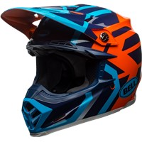 Moto-9 MIPS - Gloss Blue/Orange District