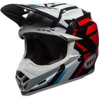 Moto-9 MIPS - Gloss White/Black/Red District