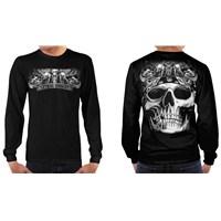 Lethal Threat® Biker Skull Long Sleeve Shirt