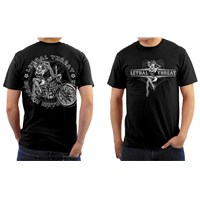 Lethal Threat® Vintage Pin Up Motorcycle T-Shirt