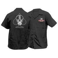Spade Biker Skull Work Shirt