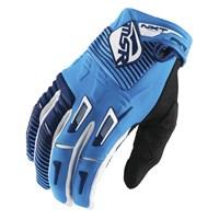 NXT Air Gloves White/Cyan/Navy