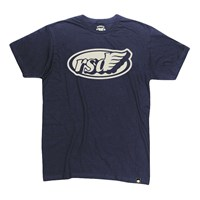 Cafe Wing Tee Navy