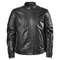 Men's Clash Perforated Leather Jacket