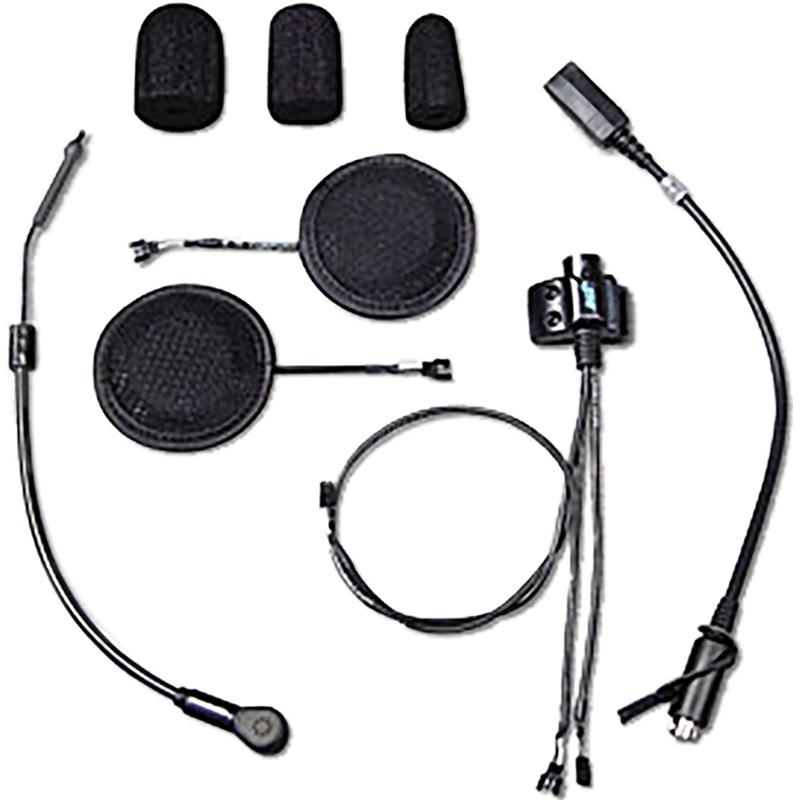 Headset with HO Aeromike & Ultra Slim Speakers Open/Full/MOD Helmet