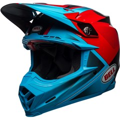 Moto-9 Flex - Gloss/Matte Cyan/Red Hound