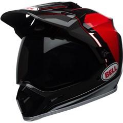 MX-9 Adventure MIPS - Gloss Black/Red/White Berm