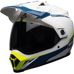 MX-9 Adventure MIPS - Gloss White/Blue/Yellow Torch