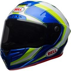 Race Star - Gloss Sector White/Hi-Viz Green/Blue