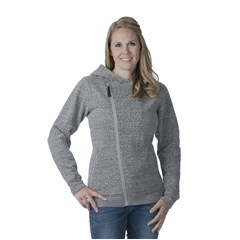 Diagonal Zip Womens Hoody