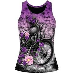 Flower Moto Womens Tank Tops