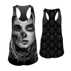 Half D.O.D. Skull Womens Tank Tops