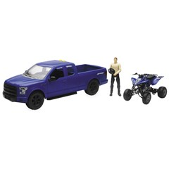 1:14 Scale Blue F-150 Truck with Yamaha YZ450F ATV