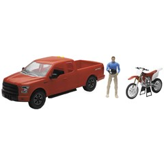 1:14 Scale Orange F-150 Truck with Honda CRF450 Motorcycle