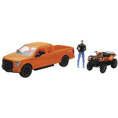 1:14 Scale Orange F-150 Truck with Suzuki Vinson ATV