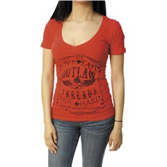 Live Fast And Ride Hard Women's V-Neck Tee