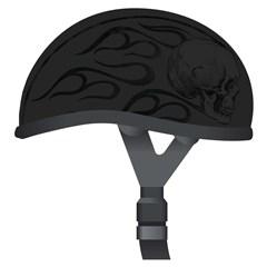 Ghost Skull Flames Helmets