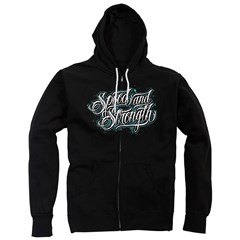 Scripted Zip Womens Hoodies
