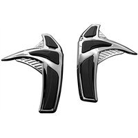 Chrome Saddlebag Front Scuff Protectors for GL1800