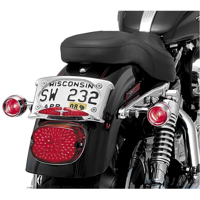 curved license plate frame - Motorcycle Plate Frame