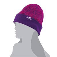 Leopard Pink/Purple Beanie Pink/Purple