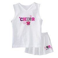 Arctic Cat Cheer Set White/Pink - 4T