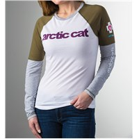 Arctic CAT Motorsports L/S T-Shirt White/Green/Gray