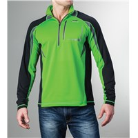 Aircat 1/2-Zip Long-Sleeve Shirt Lime