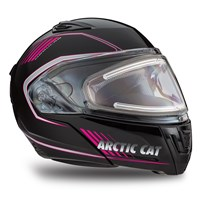 Arctic Cat Modular Helmet with Electric Shield Pink