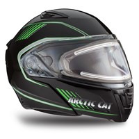 Arctic Cat Modular Helmet with Electric Shield Green