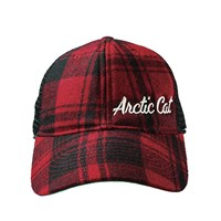 Arctic Cat Plaid Mesh Back Cap