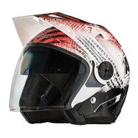Arctic Cat Open Face Helmet Gloss Red - Large