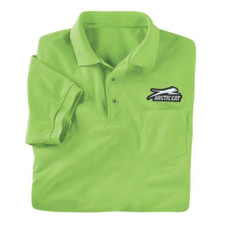 Golf Shirt W Pocket Lime Babbitts Yamaha Partshouse