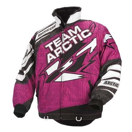 Team Arctic Jacket Pink | Babbitts Polaris Partshouse