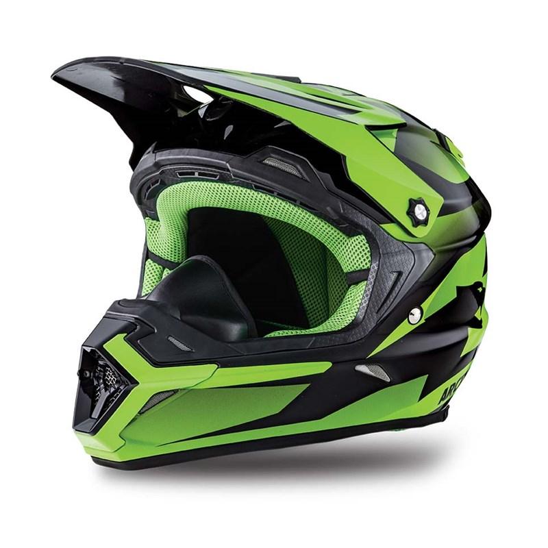 Mx Aircat Helmet Green Small Babbitts Polaris Partshouse